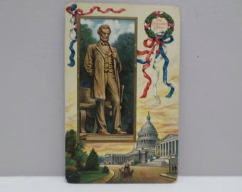 Antique Postcard President Lincoln Printed in Germany