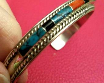 vintage Navajo Yazzie cuff bracelet
