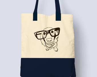 Large Tote Bag - Dog Lover - Tote Bag - Canvas Tote Bag - Tote Bags - Gifts For Dog Lovers