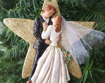 Personalized Bride and Groom ornament/magnet