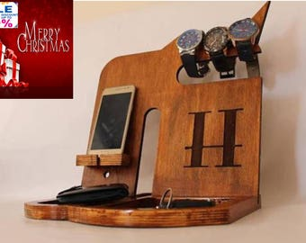 Personalized gift for Mens charging docking station multiple devices Mens Birthday gift best docking station android docking station Mens