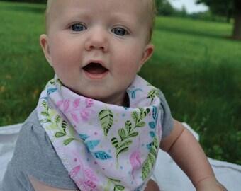 Neon Floral Handkerchief Bib