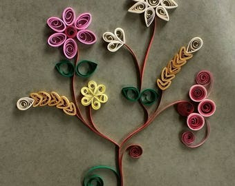 Decor home with this flower quilling art