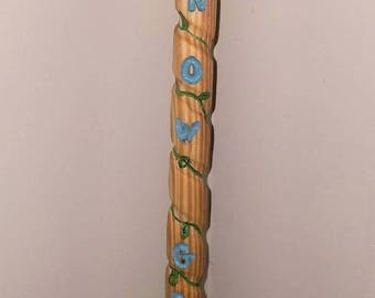 Beautiful wood grain walking stick