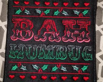 Bah Humbug microsuede holiday art