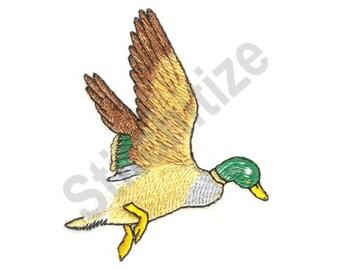 Duck In Flight - Machine Embroidery Design, Mallard