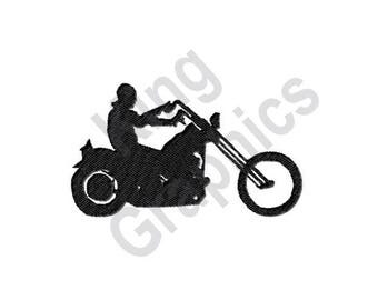 Motorbike - Machine Embroidery Design, Biker, Motorcycle