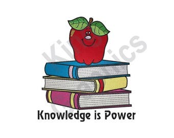 Knowledge Is Power - Machine Embroidery Design, Books, Learning, Reading