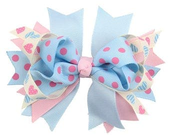 4 inch Ribbon hair clip/ hair clip/ baby/toddler/teenage/ handmade/ribbon clip.