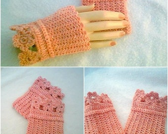 Flower Hand Warmer,Pink Blush Hand Warmers, Floral Hand Warmers,Handmade Crochet Hand Warmers by Miracles4Today