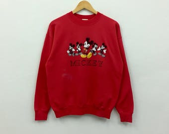 Vintage MICKEY Unlimited Sweatshirt Mickey Mouse Spellout EEjUE