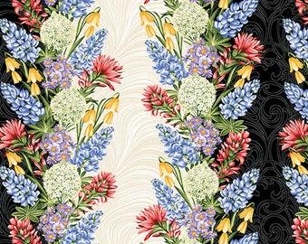 A Wildflower Meadow - Stripe Multi - 100% cotton fabric
