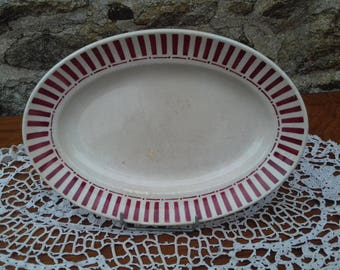 "Vintage oval porcelain dish ""MONIQUE"" french"