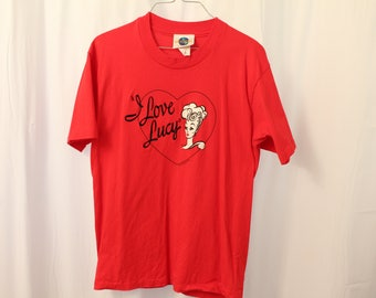 Vintage 1991 Embroidered I Love Lucy Tee - M