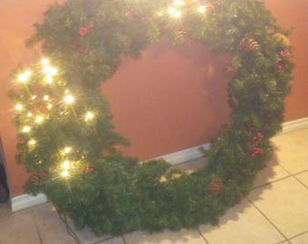 HUGE Holiday wreath