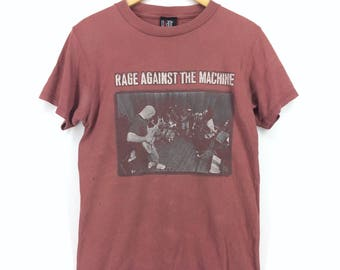 Vintage 1997 Rock Band Rage Against The Machine T-shirt Medium Size
