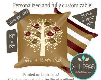 Grandparents Personalized Gift, Grandma Pillow, Personalized Grandmother Pillow, Christmas Gift for Grandparents, Custom Grandparents Gift