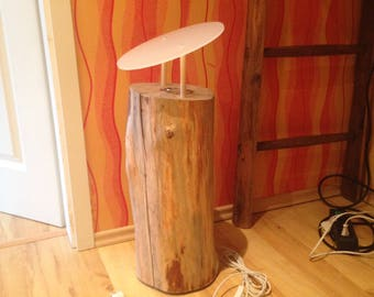 Log lamp, log, lamp wood, lamp wood, wooden lamp, wood, lamp, lamps, floor lamp, standard lamp, floor lamp wood, ceiling