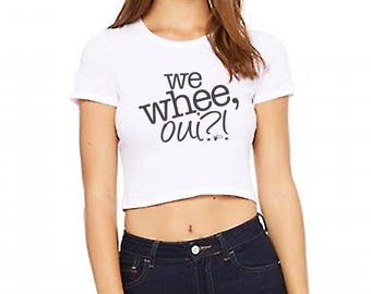We Whee, Oiu? Juniors Dance Crop Top, Lindy Hop Dance Shirt, Ballroom, salsa, bachata, ballet, Women's Crop Tee   Swing Swag dancer shirts