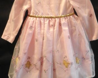 Little girls embroidered dress