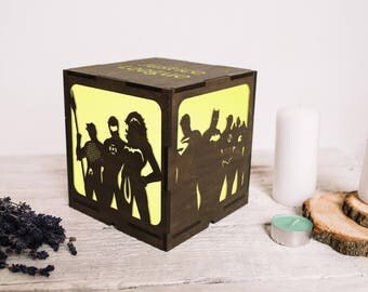 Wood night light justice league gifts/Justice league birthday party/Justice league party decor/Justice league christmas/Superhero christmas