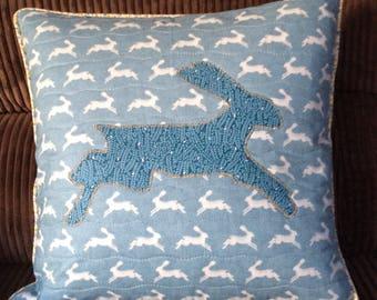 Running hare cushion