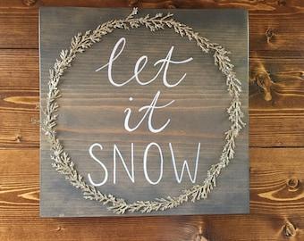 Let it Snow, Christmas Wall Decor