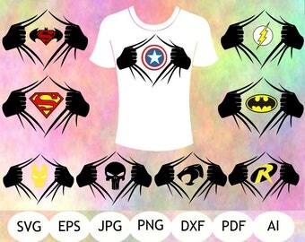 Super Hero SVG, Super Hero Hands SVG, Super Hero Printable, Digital Item, Instant Download