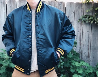 1980's Birdie Bomber Jacket by Richard A. Leslie [Size XL]