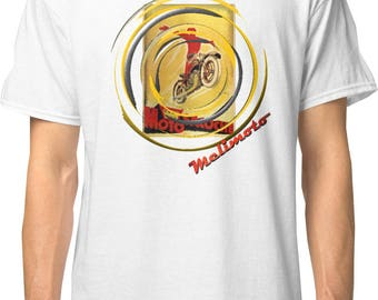 Art Deco inspired classic retro bespoke urban Motorcycle art T-Shirt Melimoto