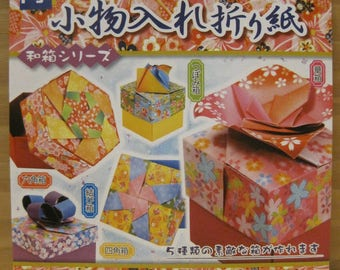 Accessories Case Origami, 5 kinds Jewelry Box, Beautiful Chiyogami with English Instructions