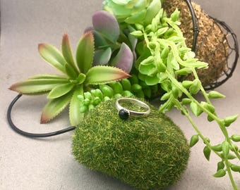 Onyx Stacker Ring in Sterling Silver