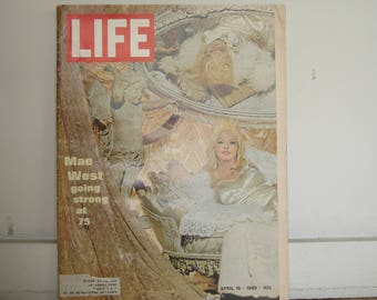 April 1969 Life Magazine with Mae West on the cover