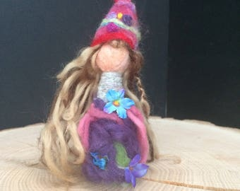 Woodland Fairy. Felted Fairy. Waldorf inspired. Wool felted fairy.