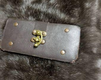 Leather Samsung 8+ phone case. Steampunk phone case