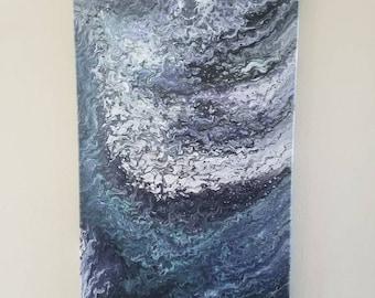 Acrylic pour canvas