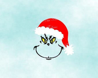Grinch SVG, Grinch Face SVG File, Grinch Hat Svg, Grinch Christmas DXF, Files For Silhouette, Files for Cricut