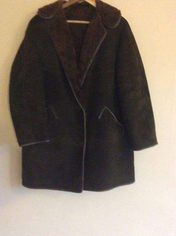 Dark Green Sheepskin Coat