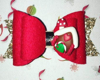 Gingerbread House Bow