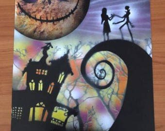 Nightmare Before Christmas - Handmade Spray Paint Art