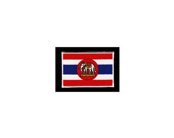 AD35 Thailand flag Elephant Patch Travel Application patches size 7.3 x 4.9 cm