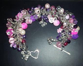 Teddy Bear Cluster Bead Bracelet