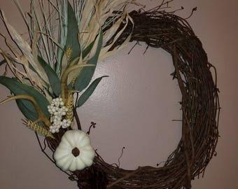 Rustic Antler Wreath