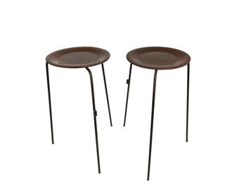 2 Mid Century Tony Paul Stacking Tables Stools