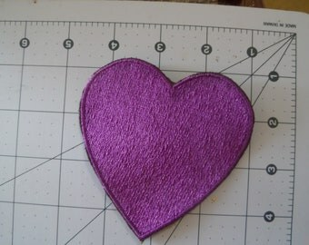 Purple heart patch..sew on...glue on...4x4 inches