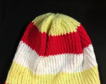 Crochet hat Kansas City Chiefs hippy dreds