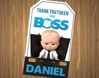 Boss Baby Thank You Tags, Boss Baby Thank You Card, Boss Baby Thank You, Alec Baldwin Thank You Tag, Boss Baby Favor, Boss Baby Printables