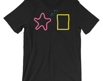 Bubble Buddies, Short-Sleeve, Unisex T-Shirt, Starfish and Sea Sponge, Pop Culture Shirt, Graphic Tee, Sea Creatures, Casual Tee, Besties