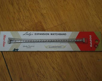 Topps/Star-Line Lady's Expansion Watchband #859 5/16 - 5 inch T to T clasp Old Stock New in Pack
