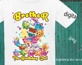 INSTANT DOWNLOAD, Shopkins Iron On Transfer, Shopkins Birthday Shirt, Shopkins Transfer, Shopkins Party, JPEG, Brother